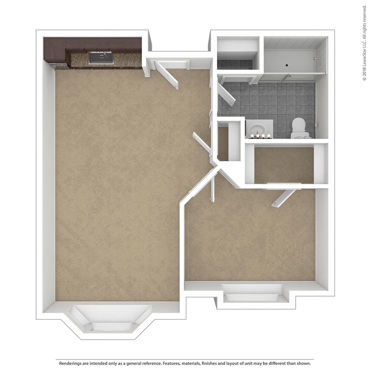 Bay Floor Plan of Charter Senior Living of Davison
