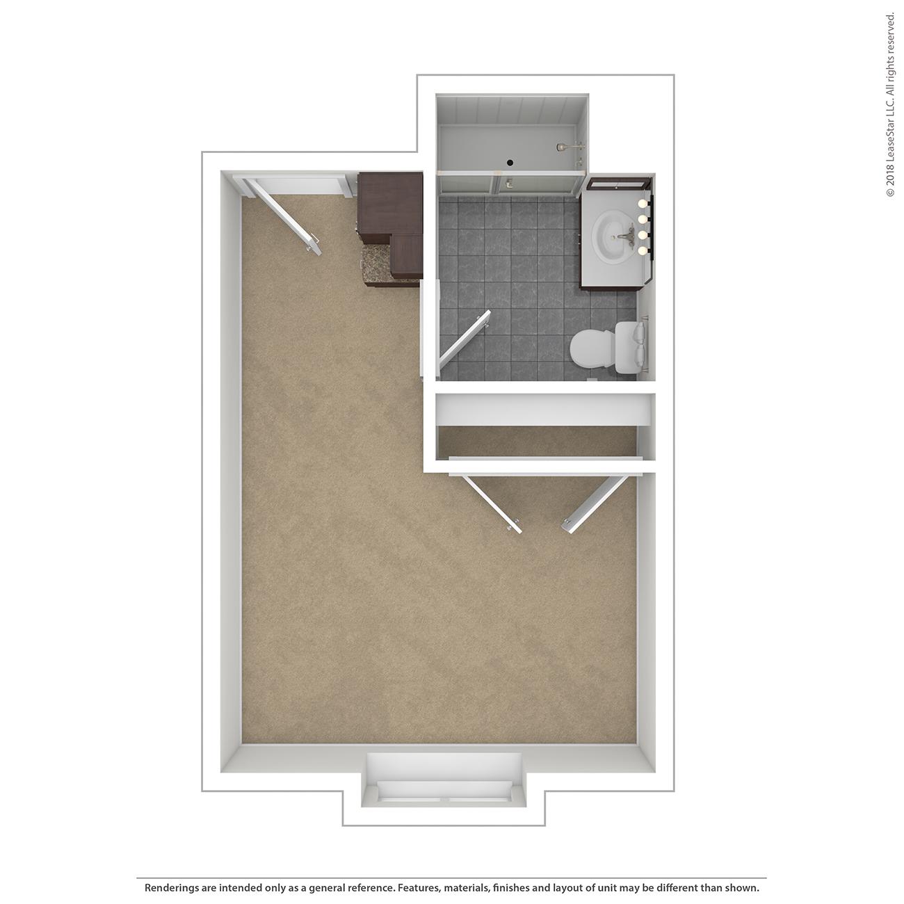 River Floor Plan at Charter Senior Living of Davison