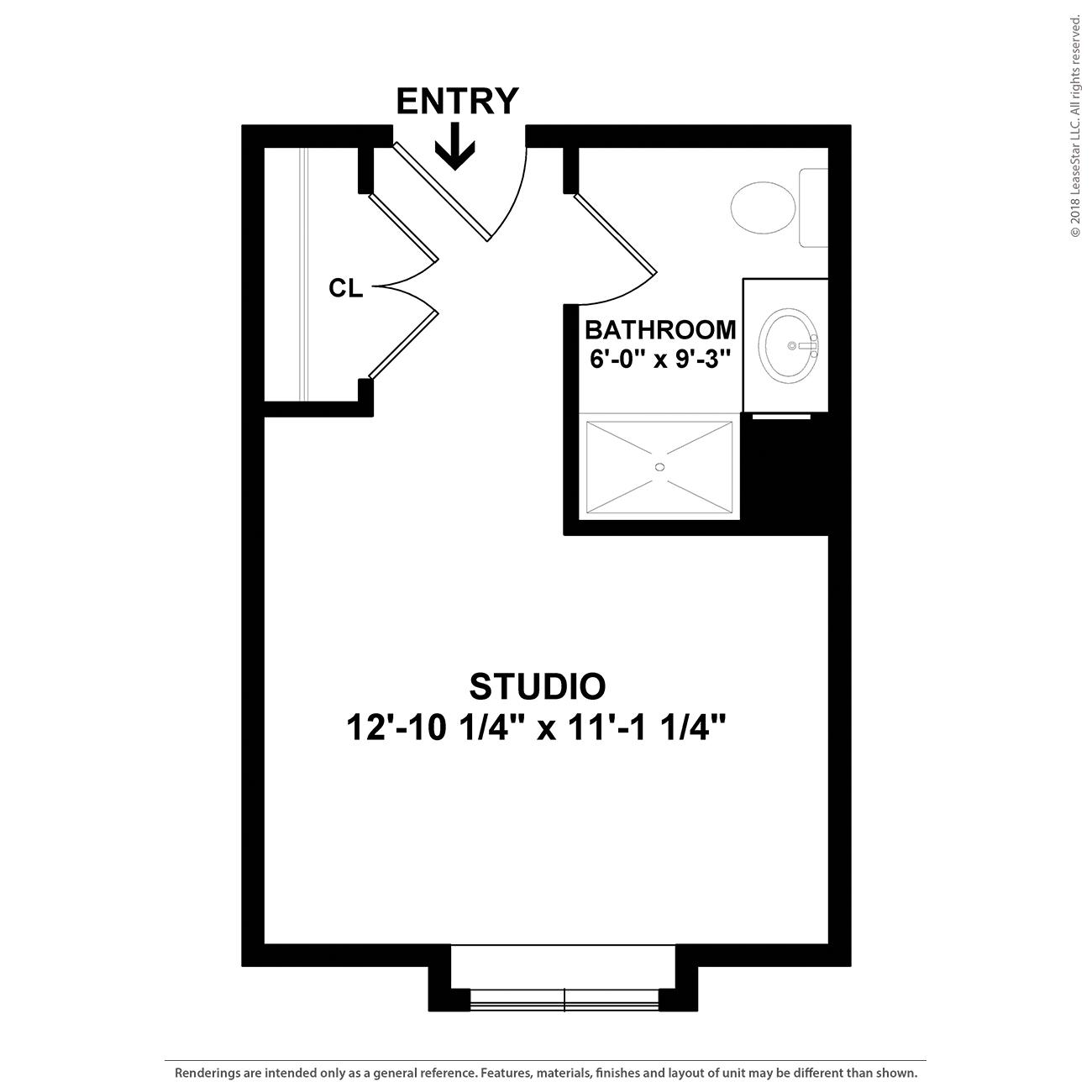 Serenity Floor Plan at Charter Senior Living of Davison